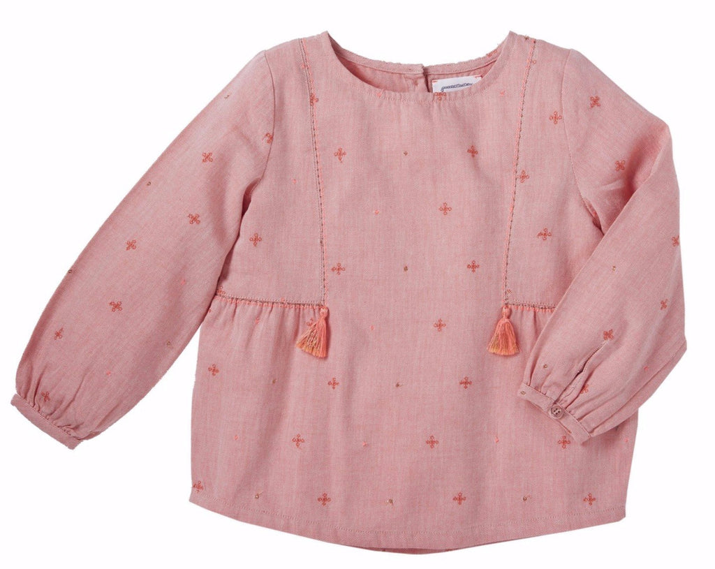 Girls Juliette Pink Blouse