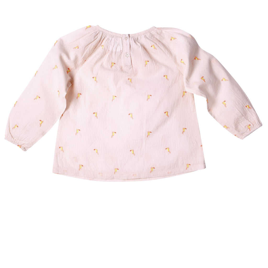 Girls Pompom Toucan Blouse