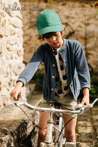 Boys Stanley Peacock Green Shirt