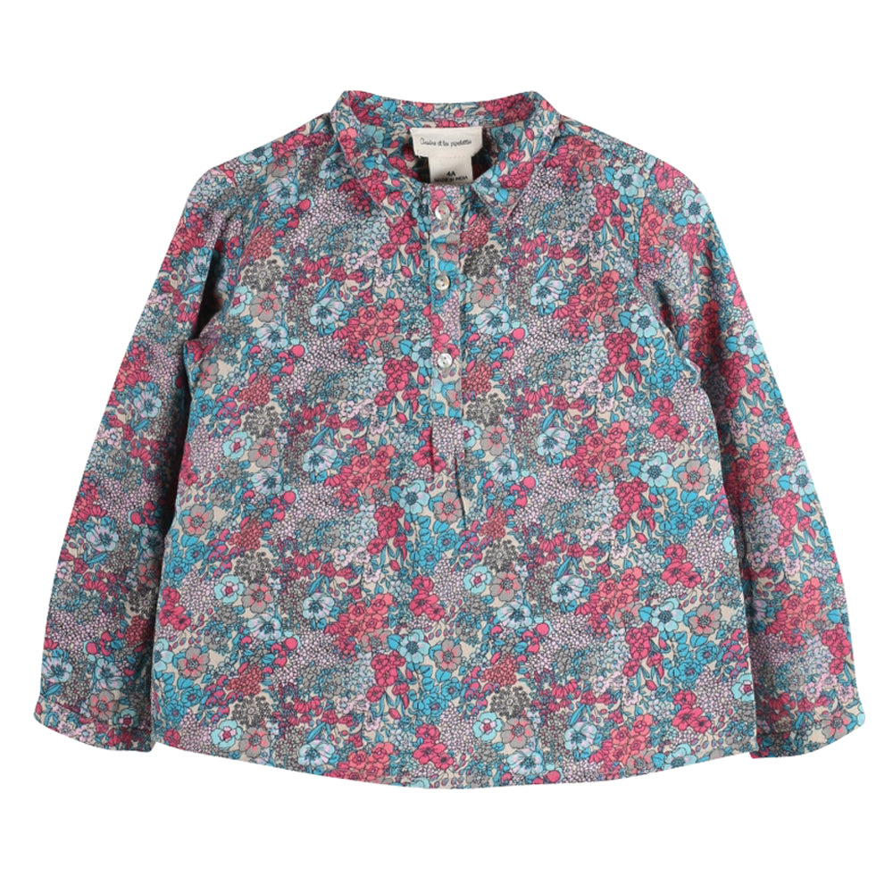 Girls Merlin Flowers Blouse