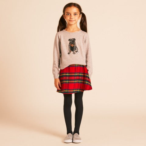 Girls Red Tartan Skirt