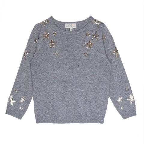 Girls Grey Sparkler Jumper