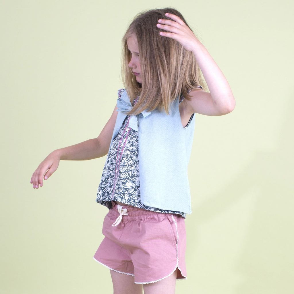 Girls Terracotta Pink Colombe Shorts