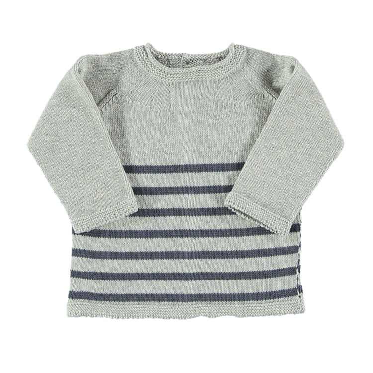 Baby Knitted Sweater Grey Stripes