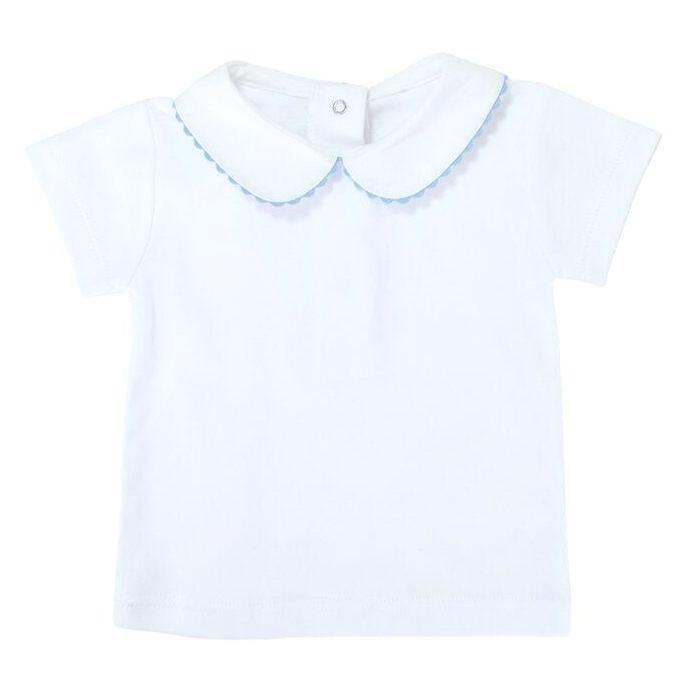 Baby T shirt Juan White Pale Blue