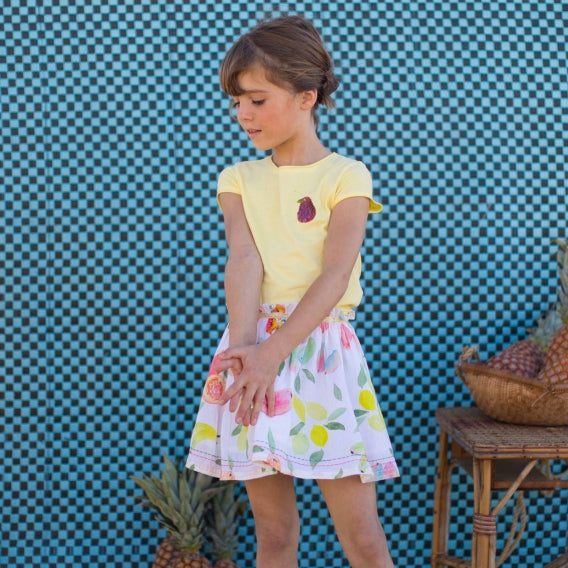 Girls Poceanne Fruit Print Skirt