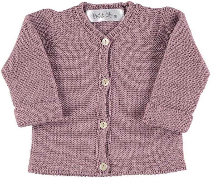 Baby Knitted Cardigan Mauve