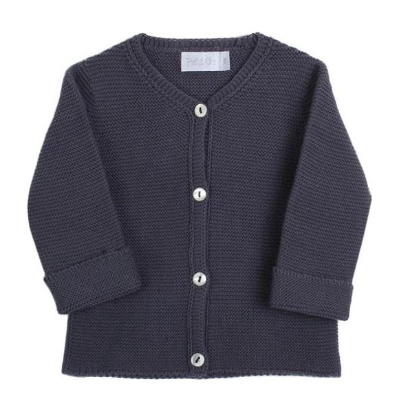 Baby Knitted Cardigan Anthracite Grey