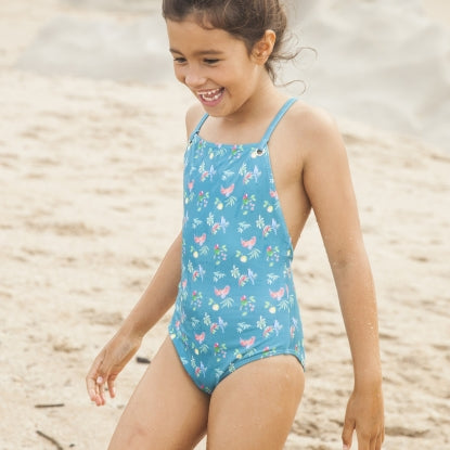 Girls Shirley Parrot Print Swimsuit