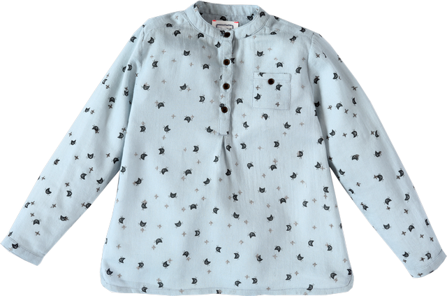 Boys Kurta Cat print Shirt