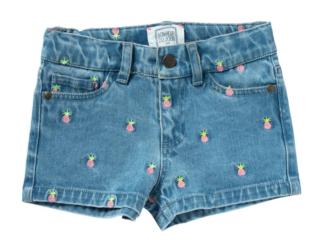 Girls Melies Pineapple Denim Shorts