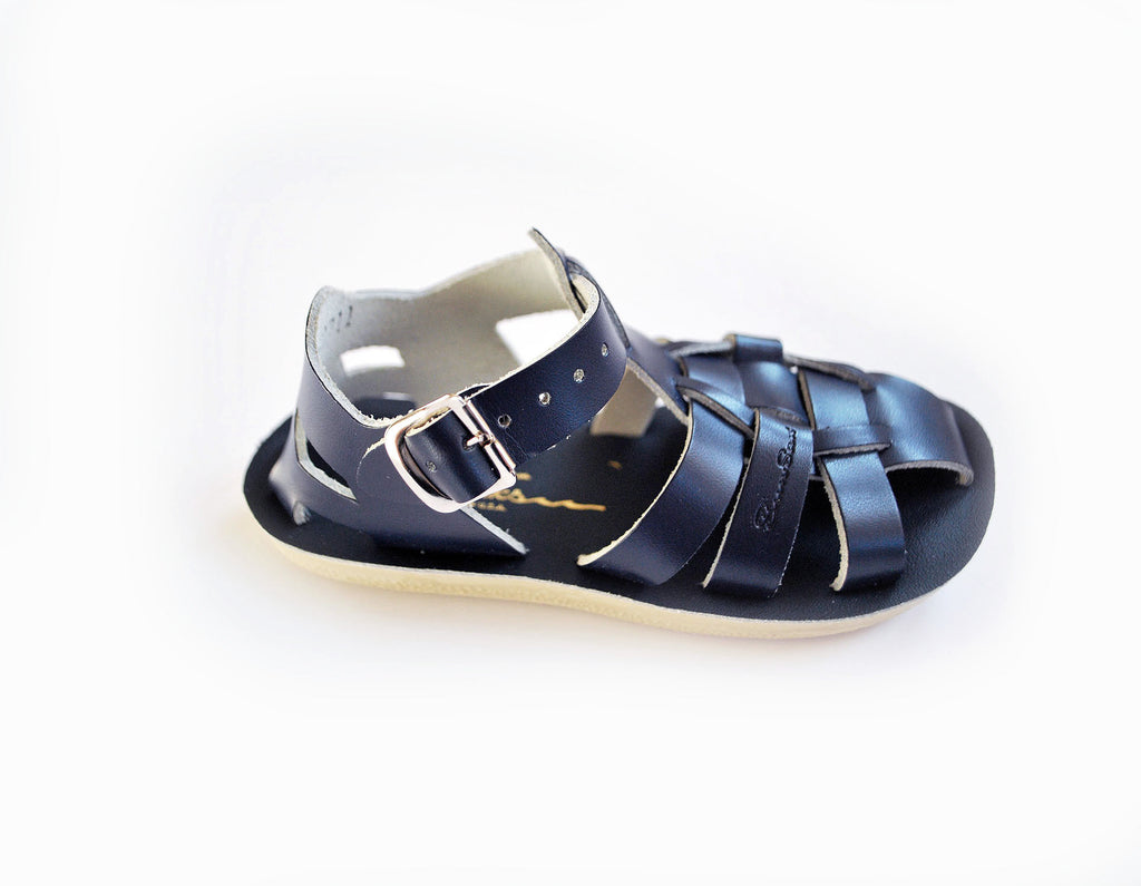 Boys Sun San Shark Navy Sandals