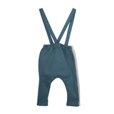 Baby Boy Rene Teal Trousers With Braces