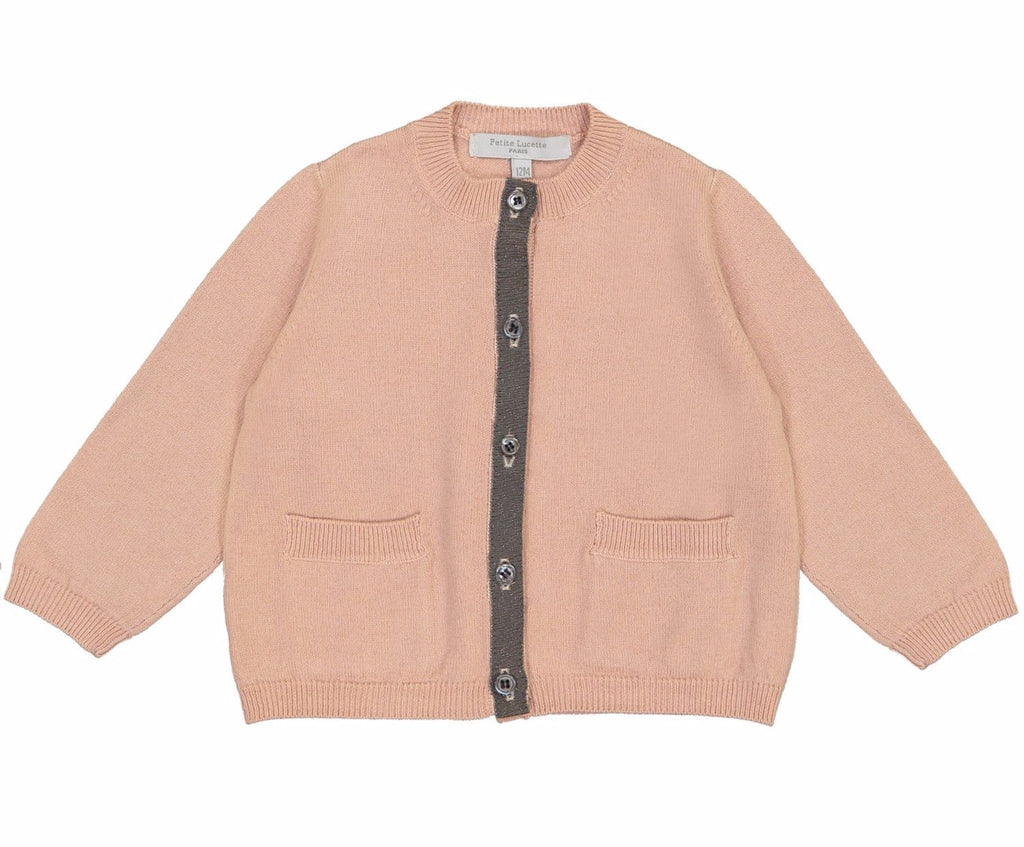 Baby Girl Paulette Cardigan Faded Pink