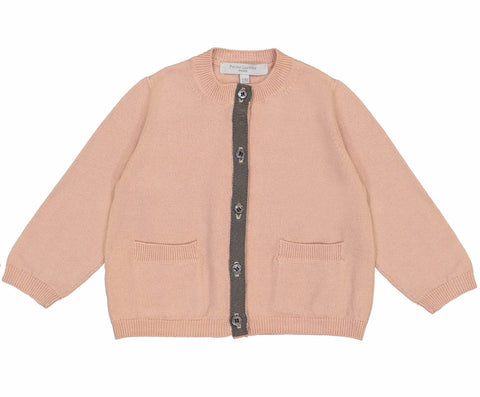 Baby Cardigan Bera, Rose Blush