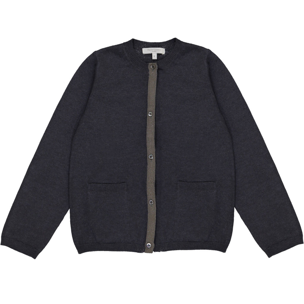Girls Paulette Cardigan Slate Grey