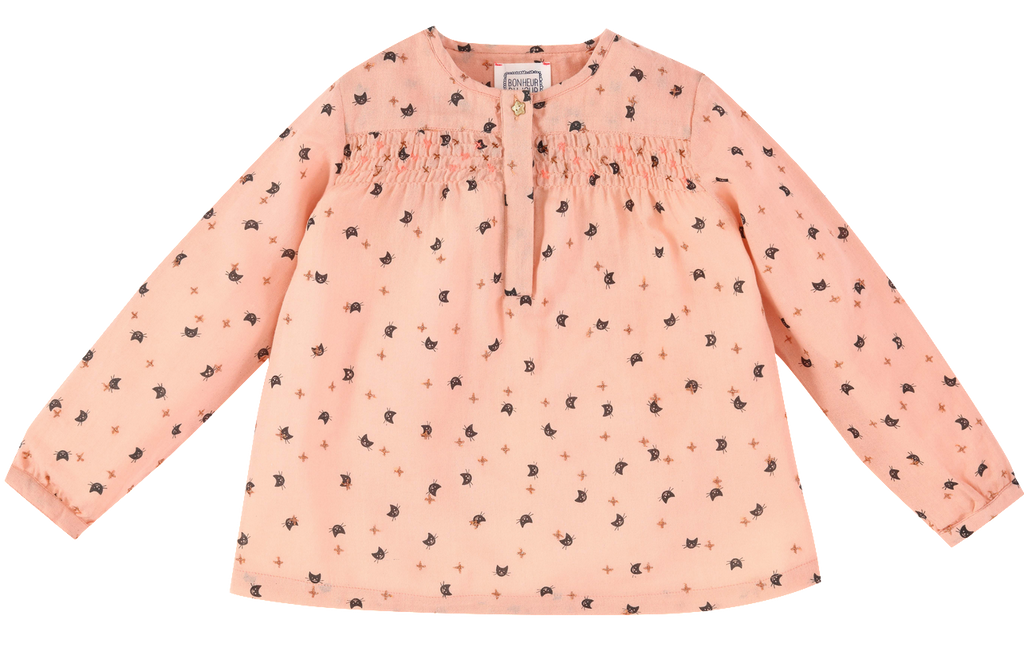 Baby Girl Pia Cat Print Blouse