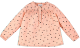Girls Pia Cat Print Blouse