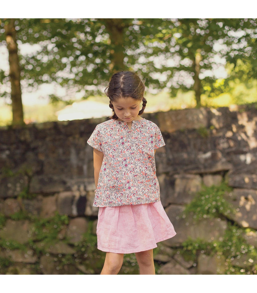 Girls Naemia Linen Chambray Skirt