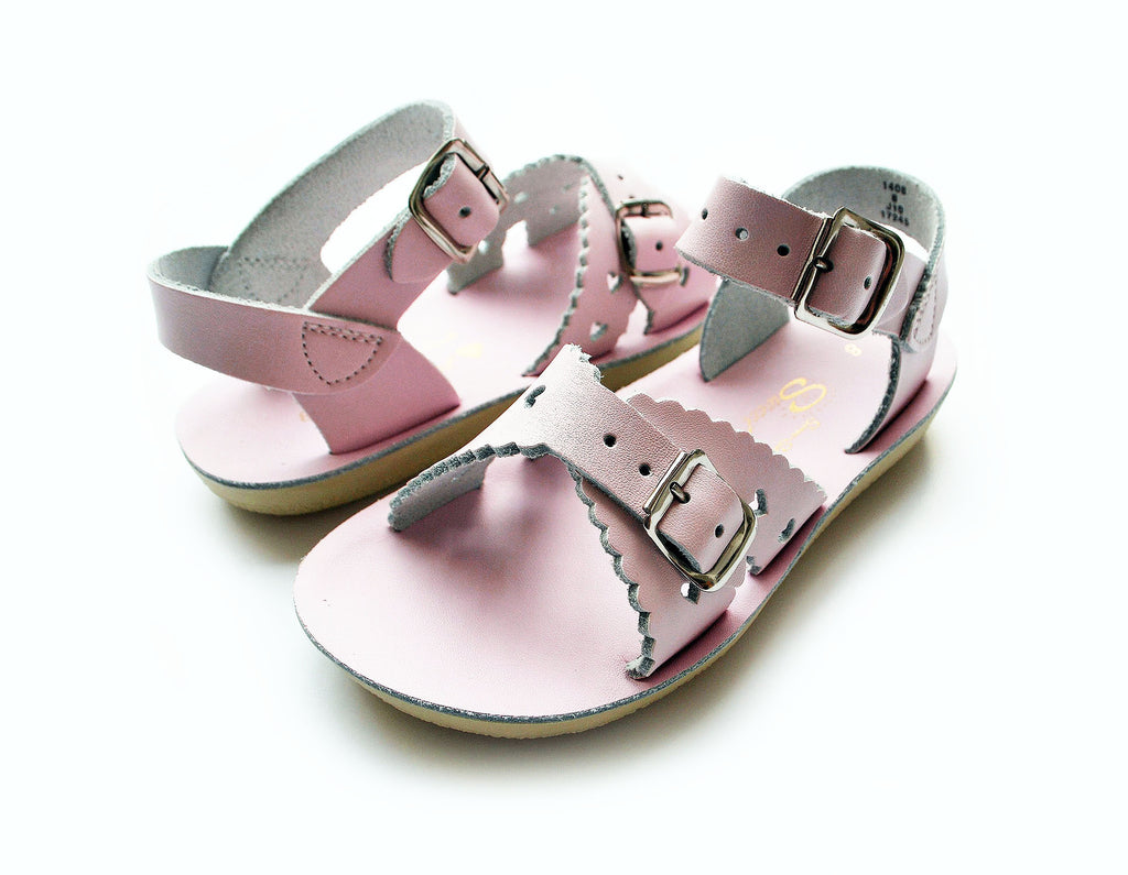 Girls Sun San Shiny Pink Sweetheart Sandals