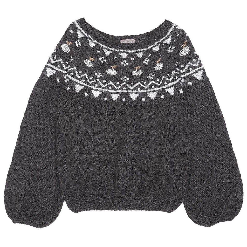 Girls Bitume jacquard Jumper