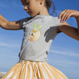Girls Serafine Clementine Grey T shirt