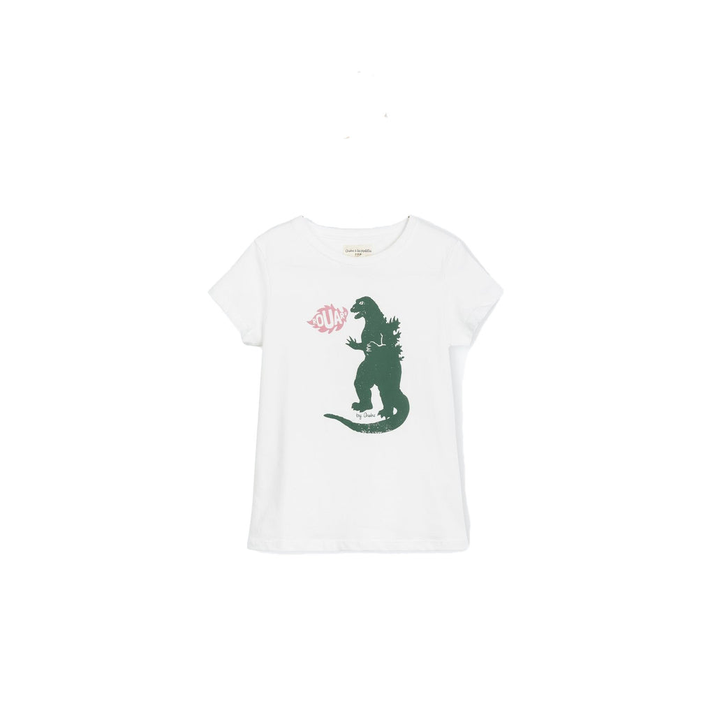 Boys Swan Godzilla White T Shirt