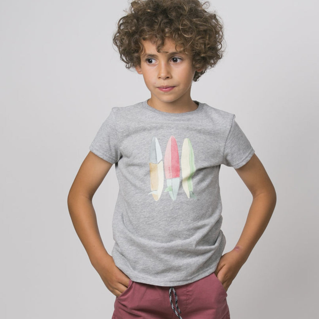 Boys Scotty Surfboards Grey T Shirt