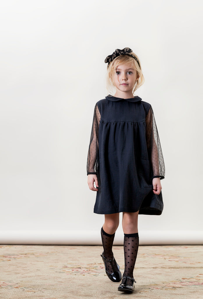 Girls Black Tulle Dress