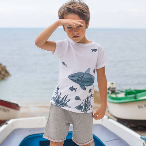 Boys Grey Yeah Mouse T Shirt
