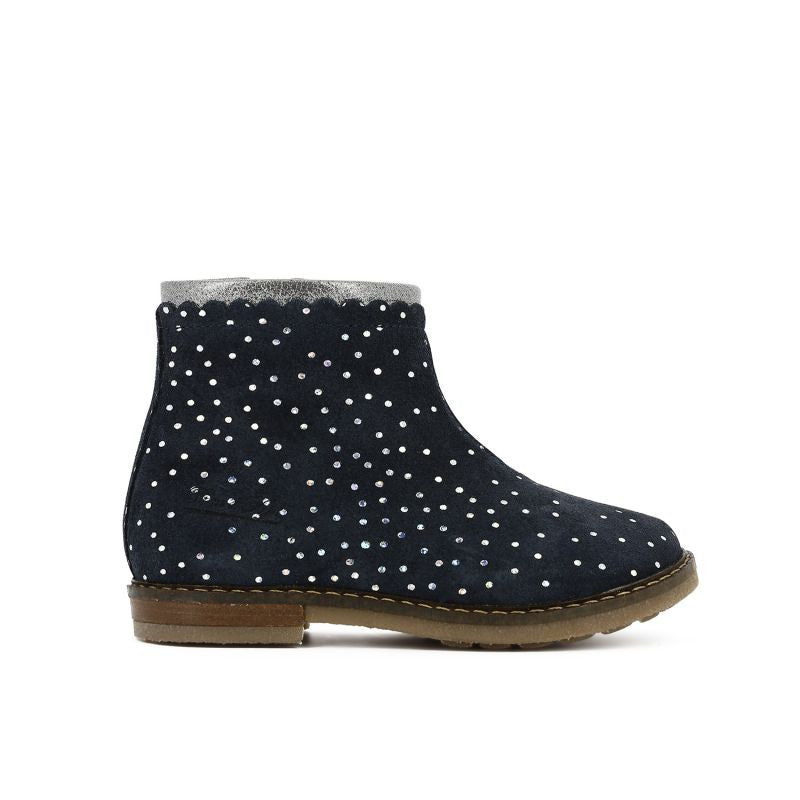 Trip Boots Croquet With Silver Polka dots