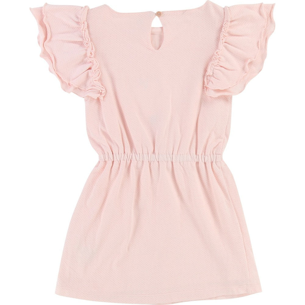 Girls Pale Pink Jersey Cotton Dress