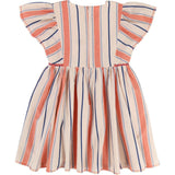 Girls Pink Striped Dress