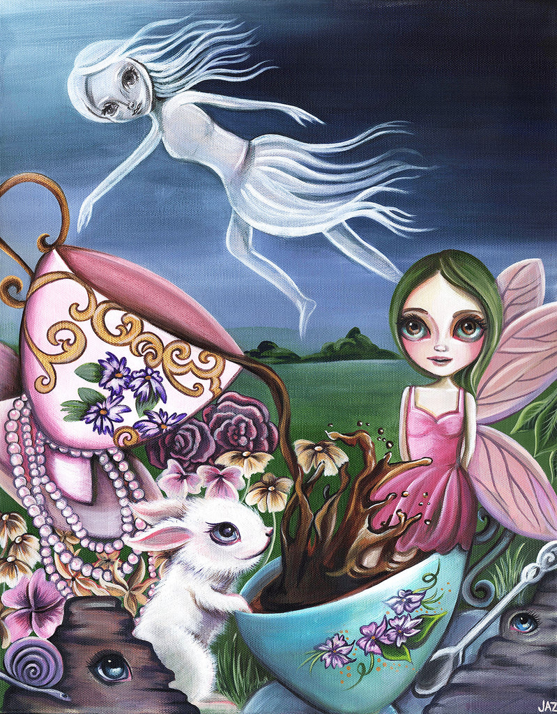 """A Ghost Flew Over the Tea Party"" Art Print"