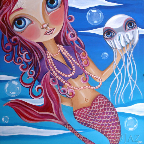 """A Jellyfish Friend"" Art Print"