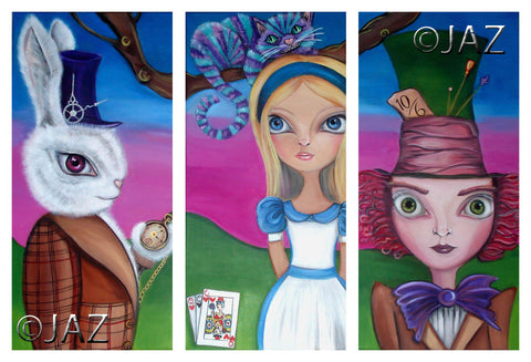 """Alice in Wonderland Triptych"" Art Print"