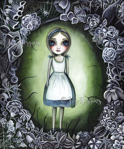 """Alice in the Deadly Garden"" Original Painting"