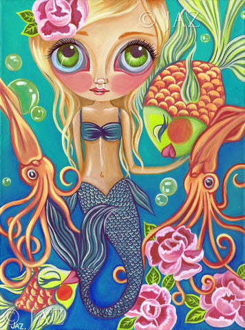 """Aquatic Mermaid"" Art Print"