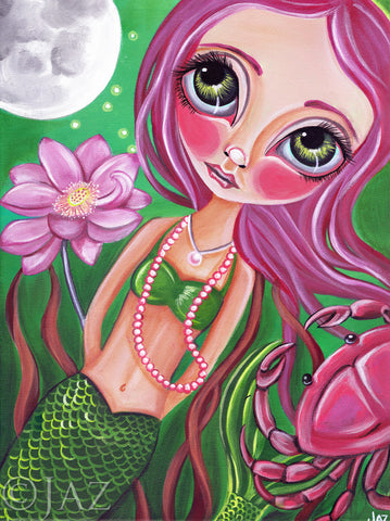 """Cancer"" (Zodiac Mermaid) Art Print"