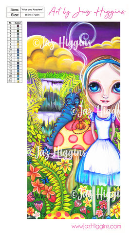 """Alice and Absolem"" Diamond Painting Kit"