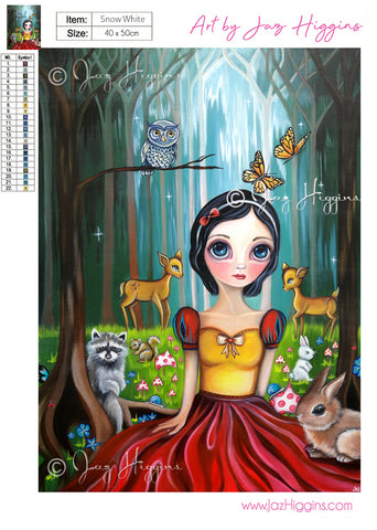 """Snow White"" Diamond Painting Kit"