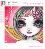 """Peony Rose Fairy"" Diamond Painting Kit"
