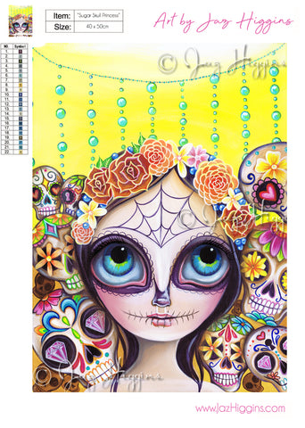 """Sugar Skull Princess"" Diamond Painting Kit"