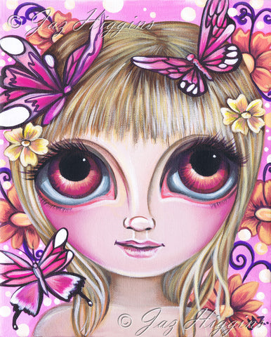 """Flutters of Pink"" Art Print"