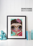 """Frida and the Watermelon"" Art Print"