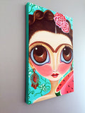 """Frida and the Watermelon"" Canvas Print"