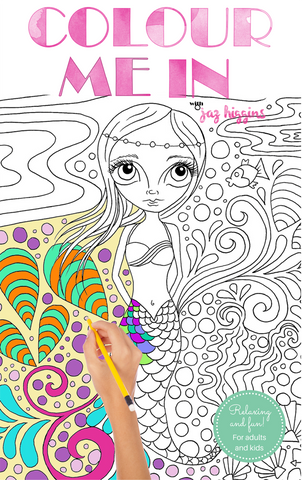 """Colour Me In"" eBook - a PRINTABLE Colouring Book for Adults or Kids!"