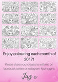2017 Colouring-In Calendar - Printable PDF