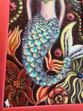 """Iso Mermaid"" Original Painting"