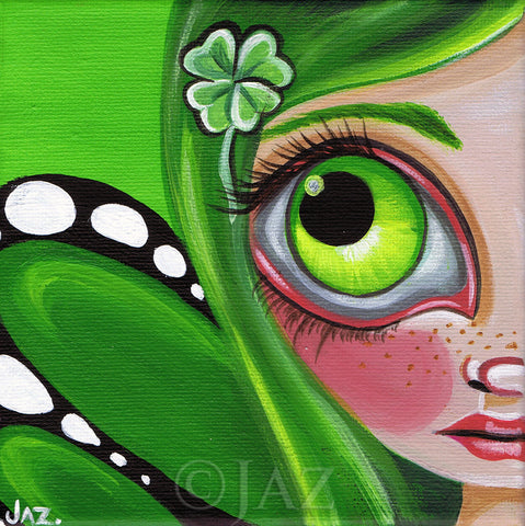 """Four Leaf Clover Fairy"" Art Print"